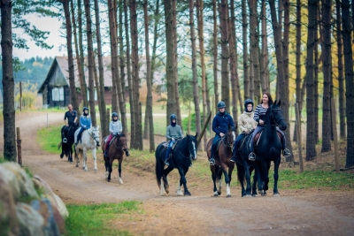 Horseback-riding in Trakai