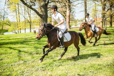 Horse back riding in Trakai area