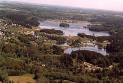 Lakes and forest in the area